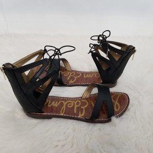 Sam Edelman Gladiator Sandals Black Size 9.5